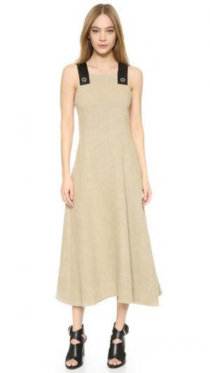 Платье-фартук из мешковины EDUN. Цвет: коричневый
