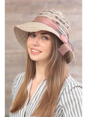 Шляпа Krife. Цвет: серый,бежевый