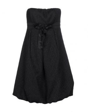 Короткое платье MISS MONEY. Цвет: черный