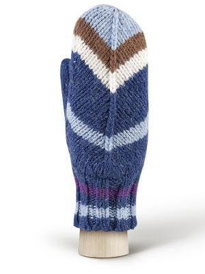 Варежки Modo. Цвет: синий, коричневый, светло-голубой, фиолетовый, бежевый