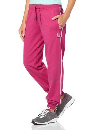 Спортивные брюки H.I.S.. Цвет: черный/белый, ярко-розовый/белый