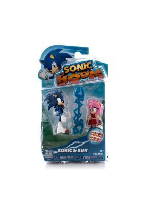 Игрушка Sonic 2 фигурки в блистере, 7,5 см Соник и Эми Boom. Цвет: синий