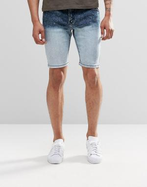 Systvm Джинсовые шорты с эффектом деграде. Цвет: синий