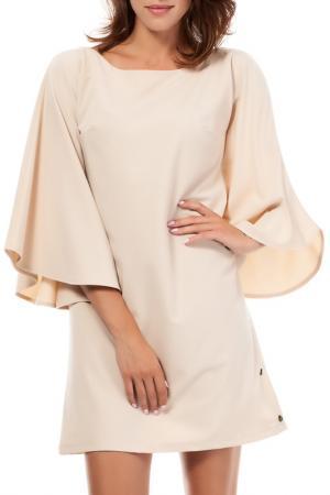 Платье BeWear. Цвет: бежевый