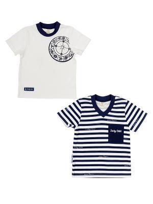 Комплект детский: футболка 2 шт. Lucky Child. Цвет: синий, белый