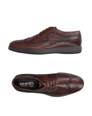 Обувь на шнурках BRUNO VERRI. Цвет: темно-коричневый