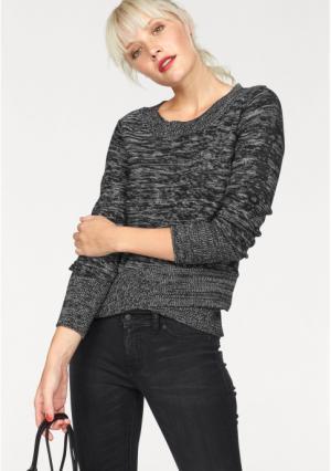 Пуловер Kangaroos. Цвет: черный/белый меланжевый