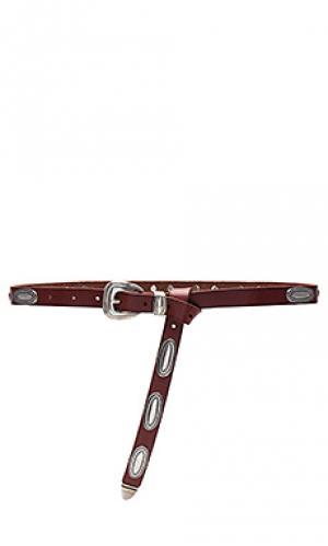 Ремень с овальной пряжкой Linea Pelle. Цвет: ржавый
