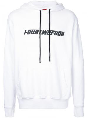 Толстовка с принтом-логотипом и капюшоном 424 Fairfax. Цвет: белый