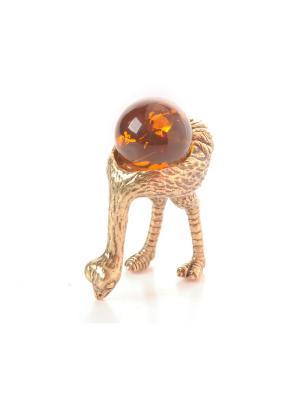 Фигура Страус Aztek. Цвет: желтый, коричневый, светло-оранжевый