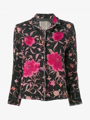 Куртка Dark Haya с цветочной вышивкой By Walid. Цвет: чёрный