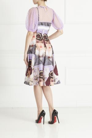 Хлопковое платье Tata Naka. Цвет: фиолетовый