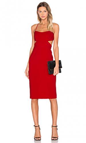 Миди платье с вырезом JILL STUART. Цвет: красный