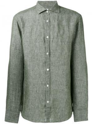 Тканая рубашка Danolis. Цвет: зелёный