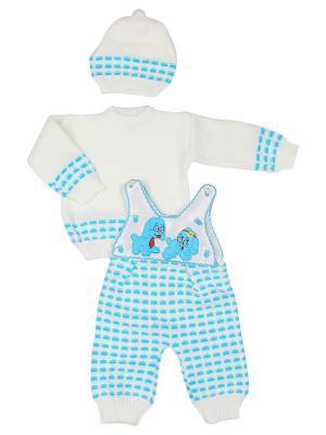 Комплект одежды M-BABY. Цвет: белый, бирюзовый
