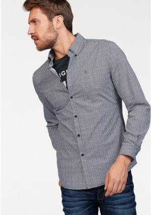 Рубашка BRUNO BANANI. Цвет: черный/с рисунком