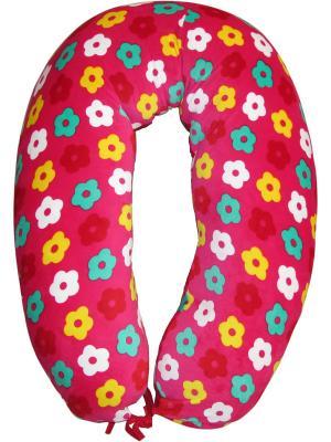 Подушка для беременных и кормления 40 недель. Цвет: розовый, желтый, зеленый