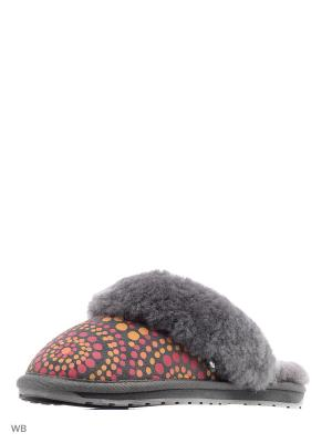Тапки EMU AUSTRALIA. Цвет: темно-серый, красный, оранжевый
