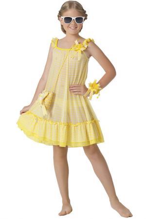 Платье пляжное, сумочка Arina Festivita by Lora Grig. Цвет: желтый