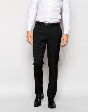 ASOS Черные брюки слим. Цвет: черный