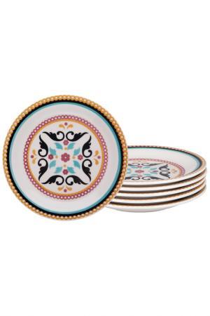 Десертная тарелка Тодо 6 шт Biona. Цвет: мультиколор