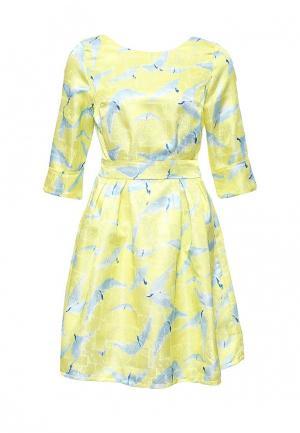 Платье Tutto Bene. Цвет: желтый