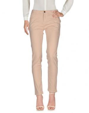 Повседневные брюки REIKO. Цвет: телесный