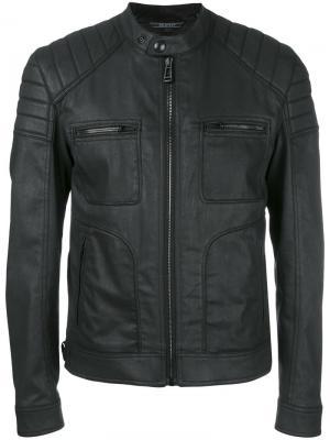 Куртка на молнии Belstaff. Цвет: чёрный