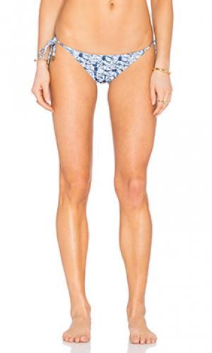 Двусторонние плавки бикини с завязками по бокам SOFIA by ViX. Цвет: синий