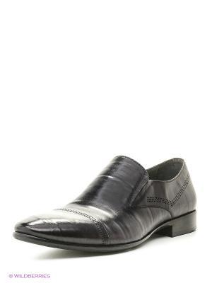 Туфли Premier. Цвет: темно-серый
