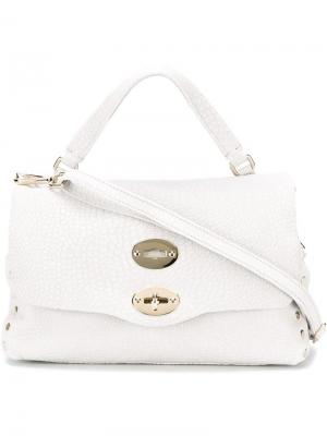 Маленькая сумка-сэтчел Postina Zanellato. Цвет: серый