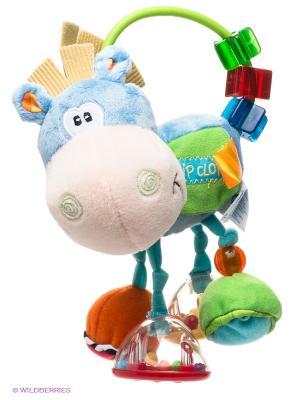 Игрушка-погремушка Ослик Playgro. Цвет: голубой, салатовый