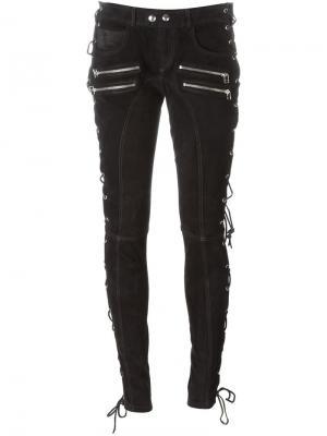 Байкерские брюки Faith Connexion. Цвет: чёрный