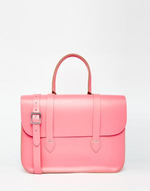 Leather Satchel Company Сумка-тоут. Цвет: baby pink