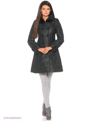 Пуховое пальто BCVS makelove. Цвет: черный