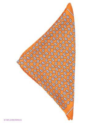 Платок-паше Troy collezione. Цвет: оранжевый, белый