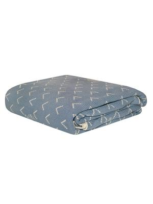 Плед  Снежный голубой 140*190, 100% хлопок. ARLONI. Цвет: серо-голубой, голубой