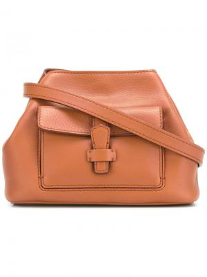 Объемная мини-сумка Loro Piana. Цвет: коричневый