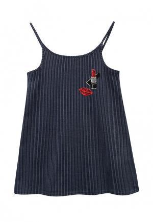 Комплект водолазка и платье Acoola. Цвет: синий