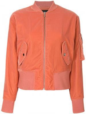 Velvet bomber jacket Designers Remix. Цвет: жёлтый и оранжевый