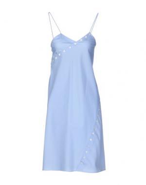 Платье до колена COURRÈGES. Цвет: небесно-голубой