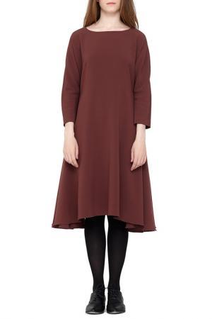 Платье Cyrille Gassiline. Цвет: кофейно-розовый