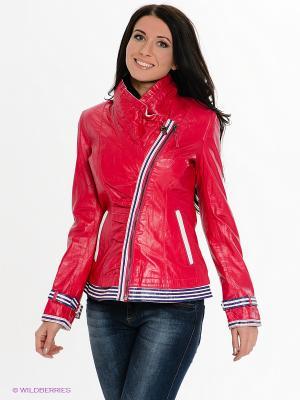 Куртка STEFANO FERRI. Цвет: фуксия, белый, синий