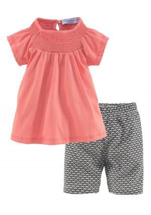 Комплект: туника + шорты KLITZEKLEIN. Цвет: абрикосовый+с рисунком