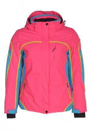 Куртка горнолыжная Fun Rocket. Цвет: розовый