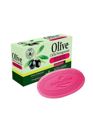 ГЕРБОЛИВ Натуральное оливковое мыло с экстрактом граната. Вес: 90гр. Madis S.A.. Цвет: оливковый