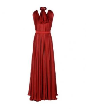 Длинное платье DANIELE CARLOTTA. Цвет: кирпично-красный