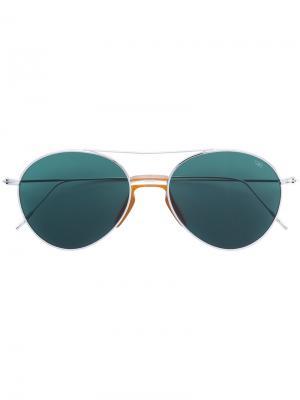Солнцезащитные очки-авиаторы закругленной формы Eyevan7285. Цвет: металлический