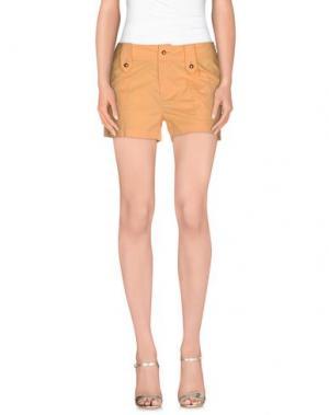Повседневные шорты PF PAOLA FRANI. Цвет: абрикосовый