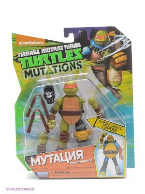 Фигурка Черепашки-ниндзя 12см серия Mutation  Микеланджело Playmates toys. Цвет: зеленый, оранжевый